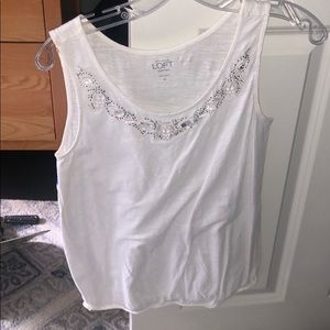 White tank top from loft
